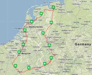 EuroTour 2013 Map