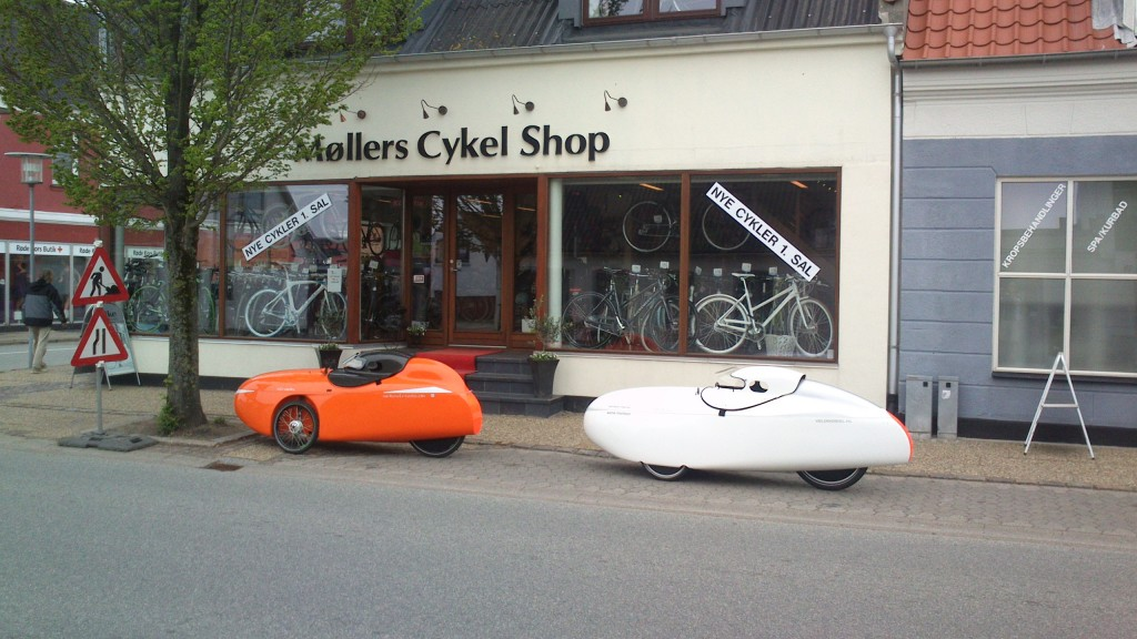 Nye dæk hos mollers cykelshop
