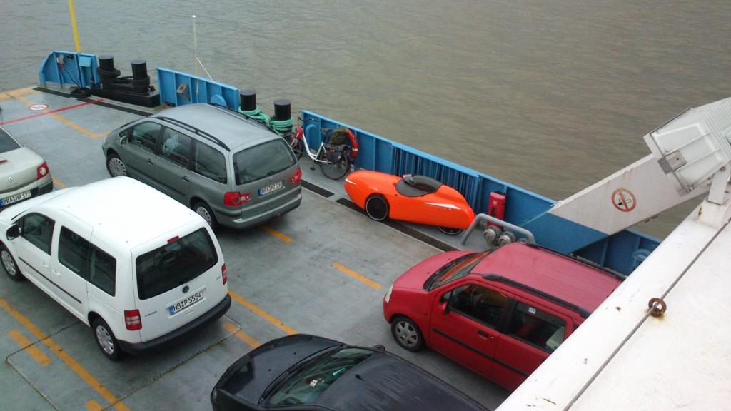 Strada på færgen ved Bremerhaven