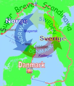 Super-Brevet-Scandinavia rute