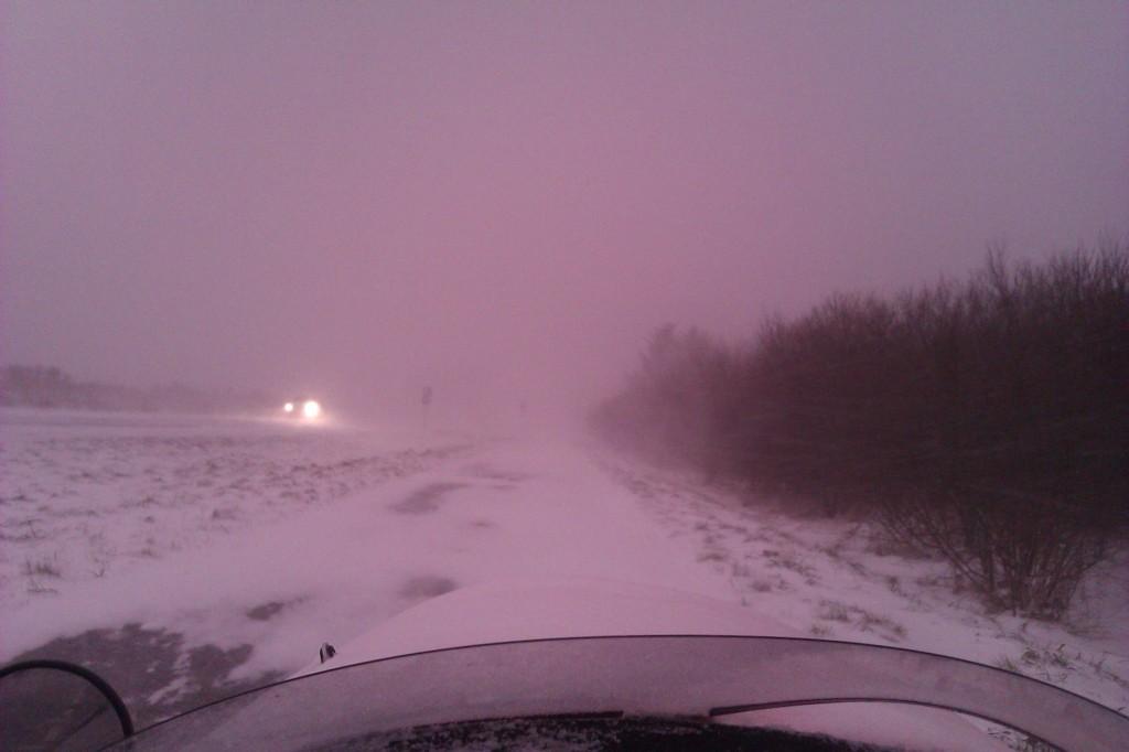 Schwalbe Winther,2 timer inde i snestorm