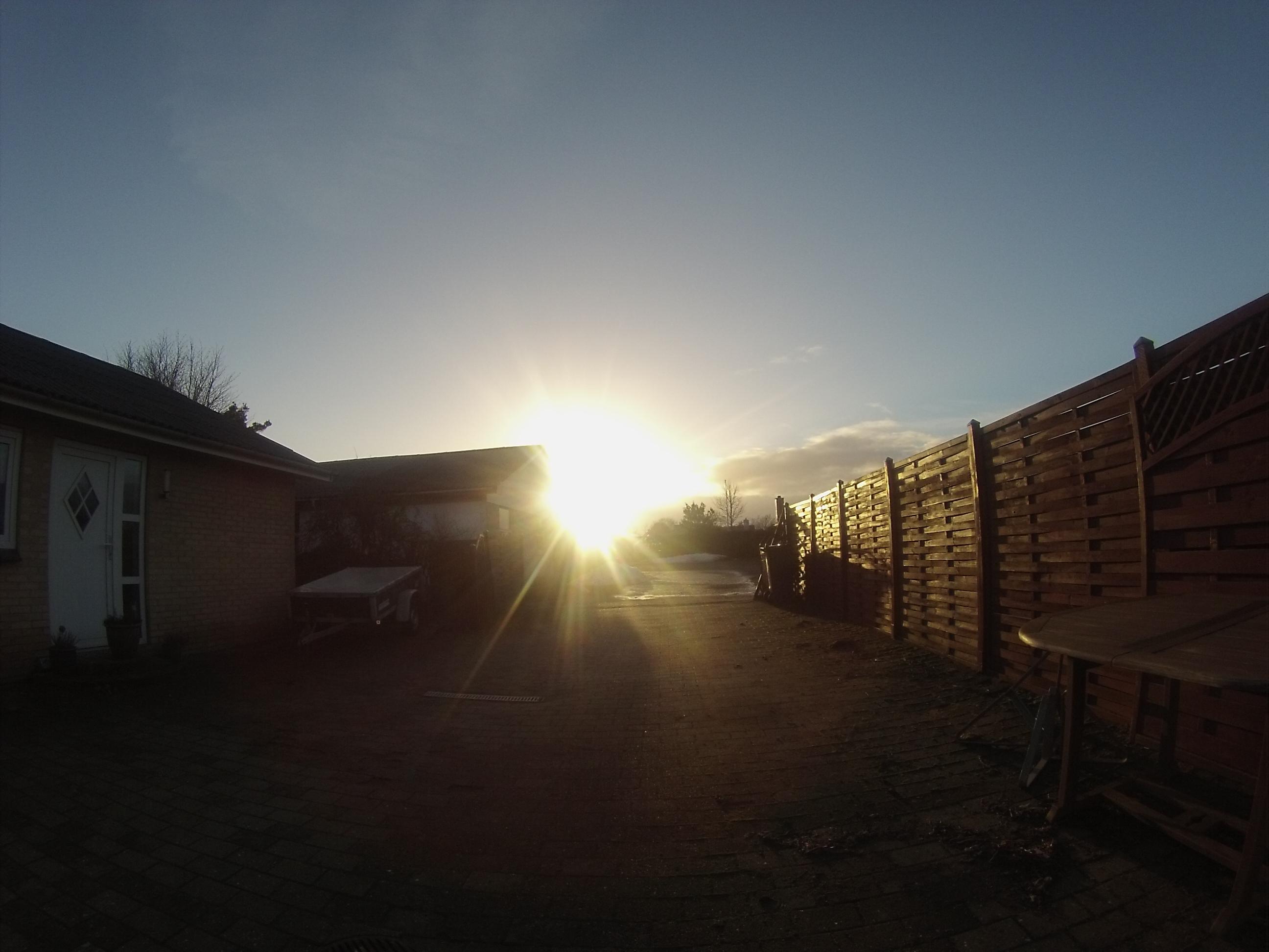 Hjemme igen, og solen kom