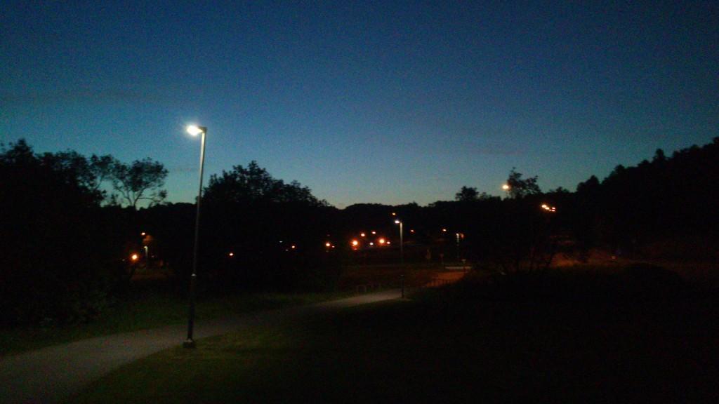 Klokken 03.00, lige uden for Göteborg
