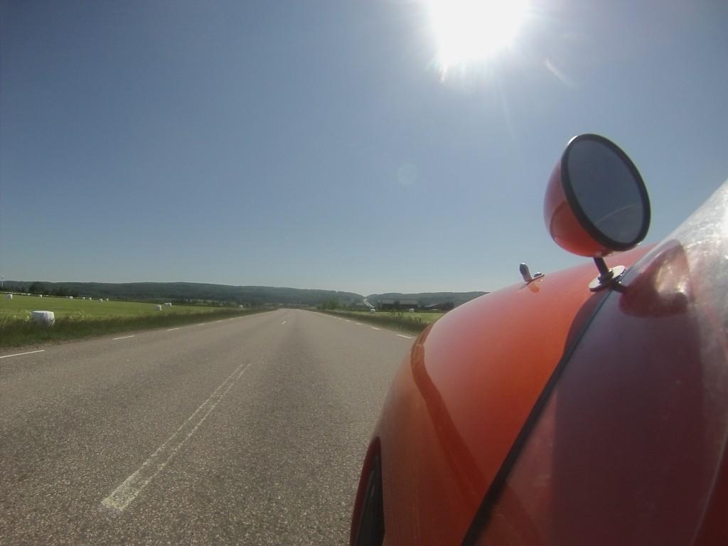 Motorvejen over Hallandsåsen se i det fjerne