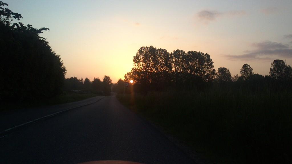 Solen. Endelig på vej mod Helsingør