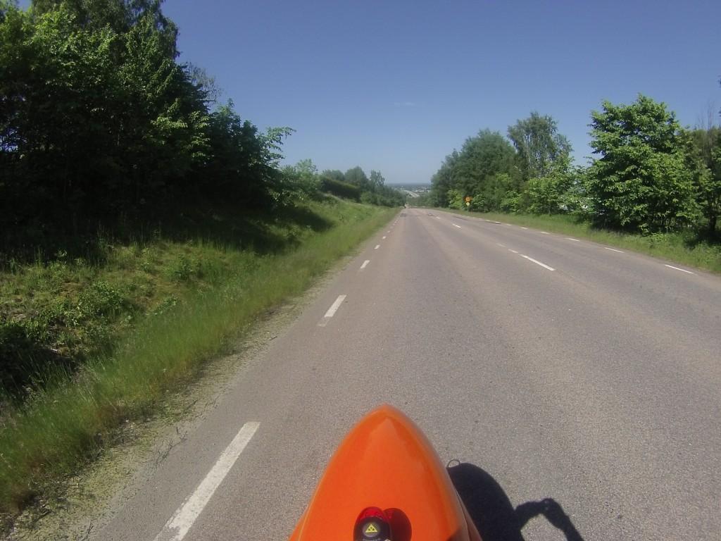 Udsigten bagud på vej op ad Hallandsåsen