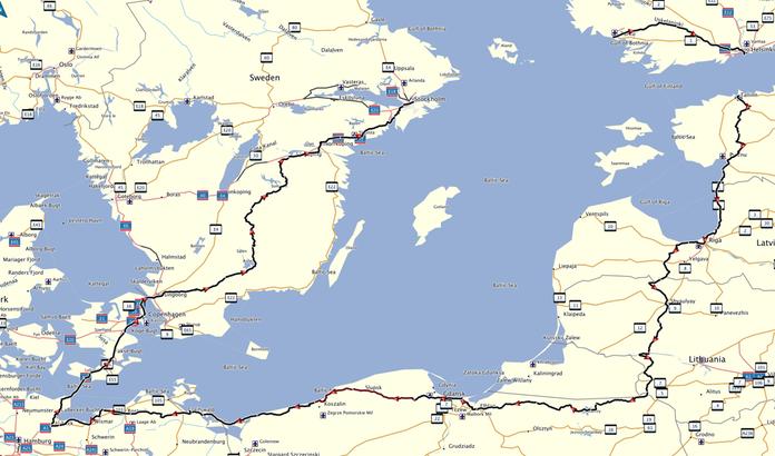 The Great Baltic Ride ruten 3300 kilometer