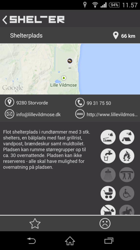 Shelter nær Dokkeldal/ØsterHurup