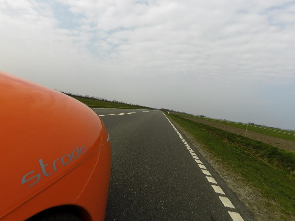 Audax rytter foran 200 km Brevet 2015