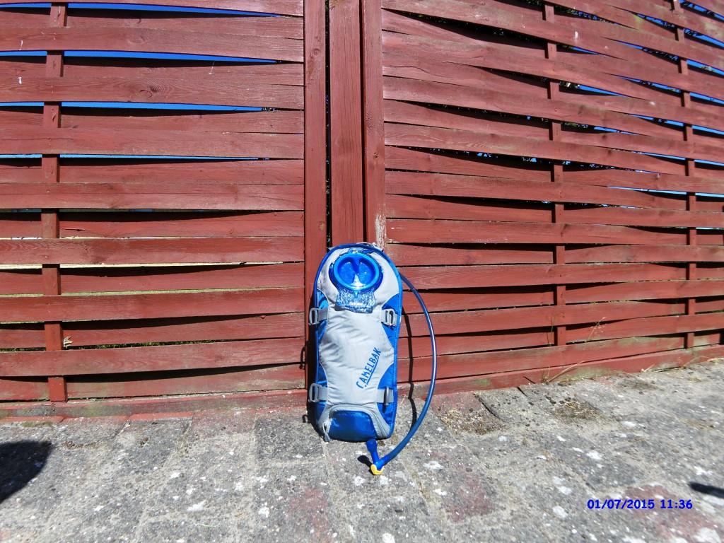 Camelbak i 15 min i sol varme