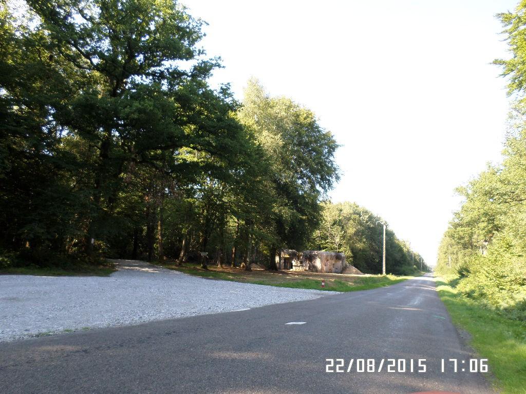 Gammel bunker nær grænsen til Belgien