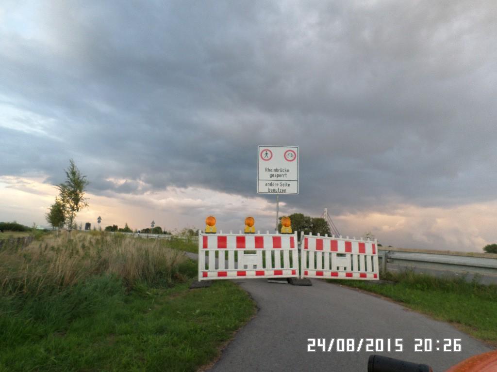 Rhein broen spærret