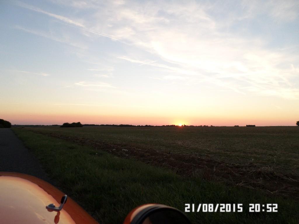 Solnedgang i Frankrig