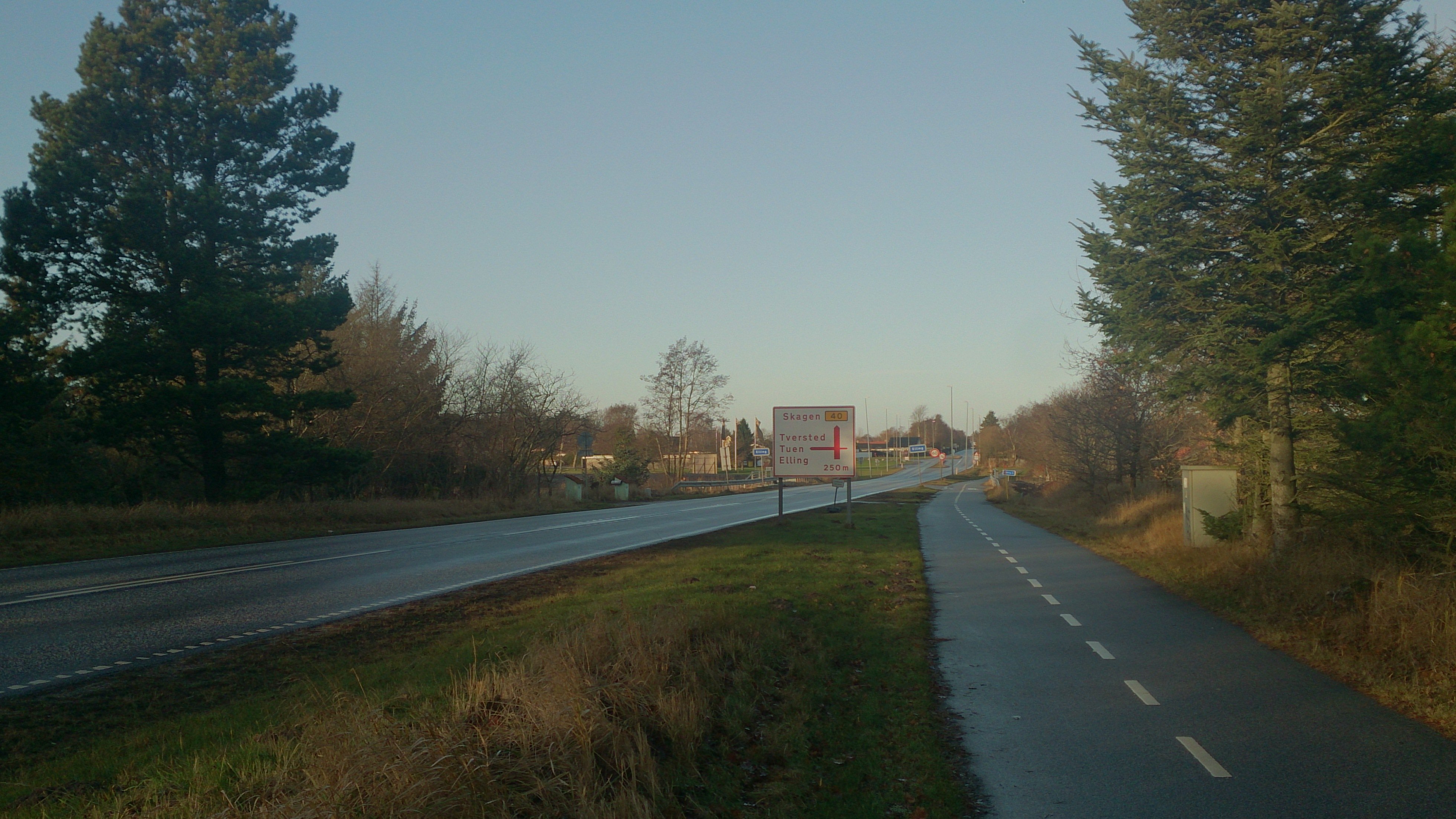 Cykelsti hele vejen til Skagen