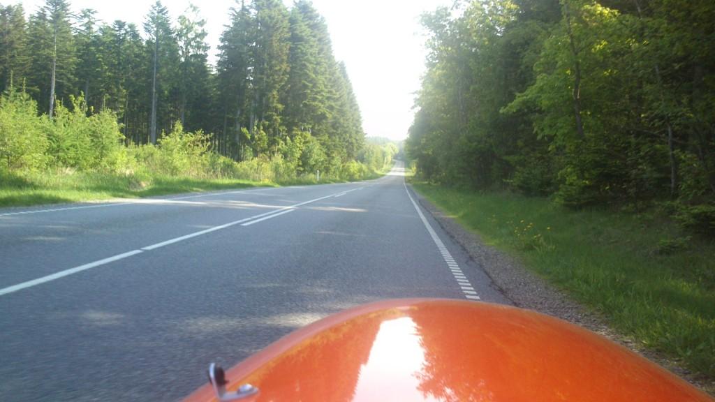 Det var rart lige at køre i Skyggen, da det var varmt
