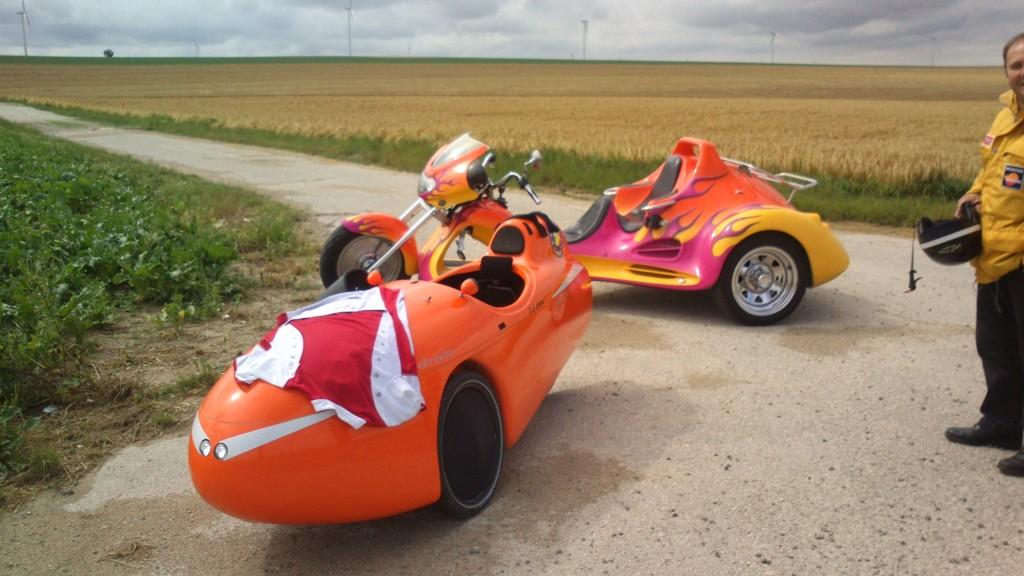 Møde med motoriseret trike