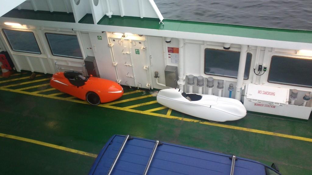 Strada og Milan på færgen