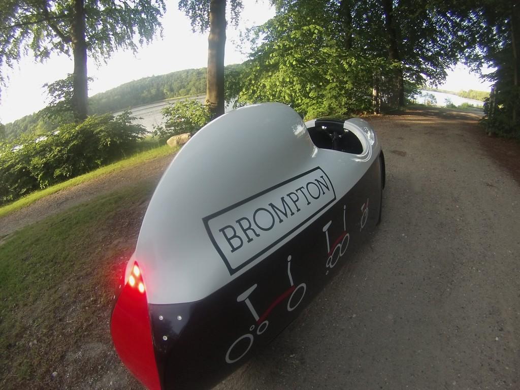 Brompton Velomobile, hvem vil sige nej til at køre den, ikke mig :-)