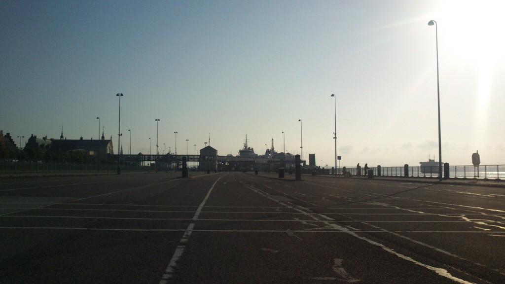 Helsingør færgehavn, færgen lige sejlet