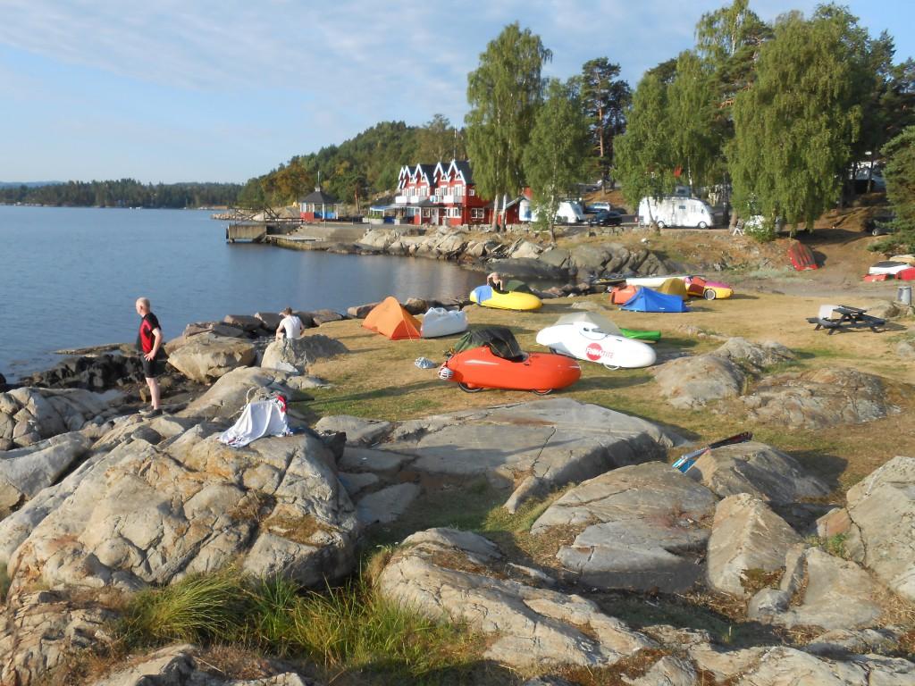 Klokken 06.00 Ramton camp. Nyder den smukke morgen