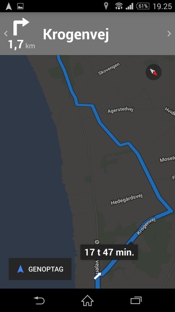 Google Map omvej