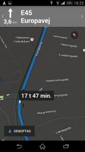 Google map Smartphone zoom 1