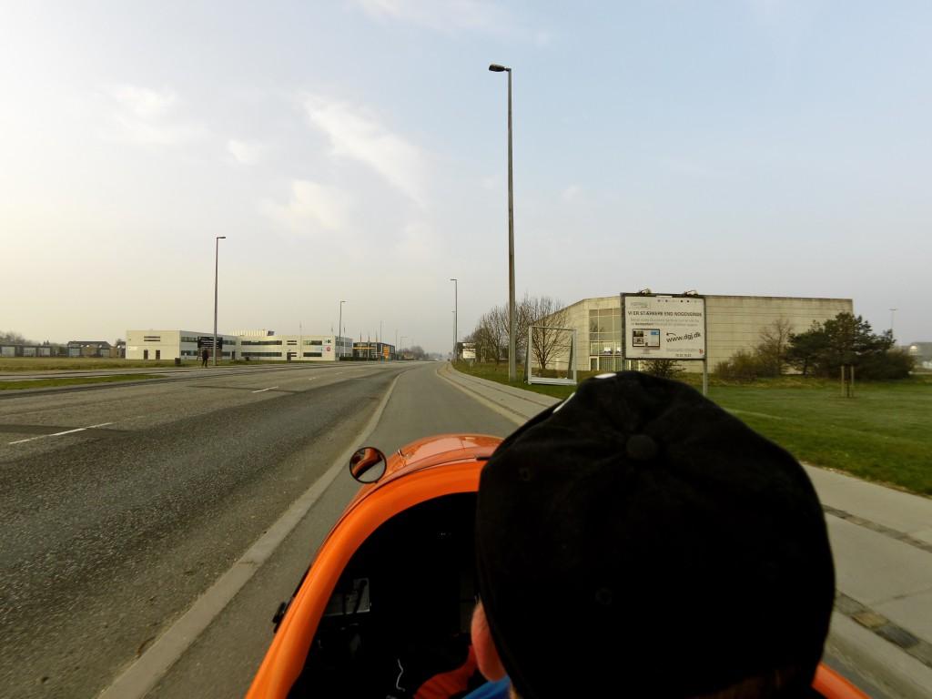 På vej ud af Ålborg 200 km Brevet 2015