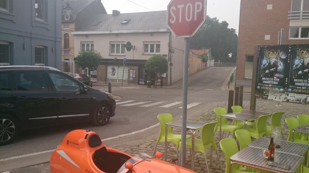 Pizza stop Belgien