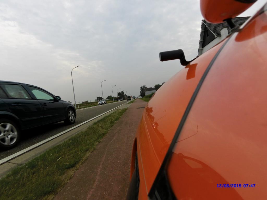 Strada på cykelsti i Belgien