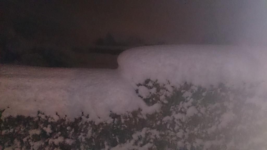 Sne sent aften