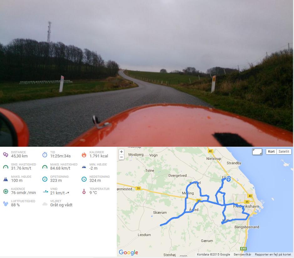45 km bakketur 18-12-2015