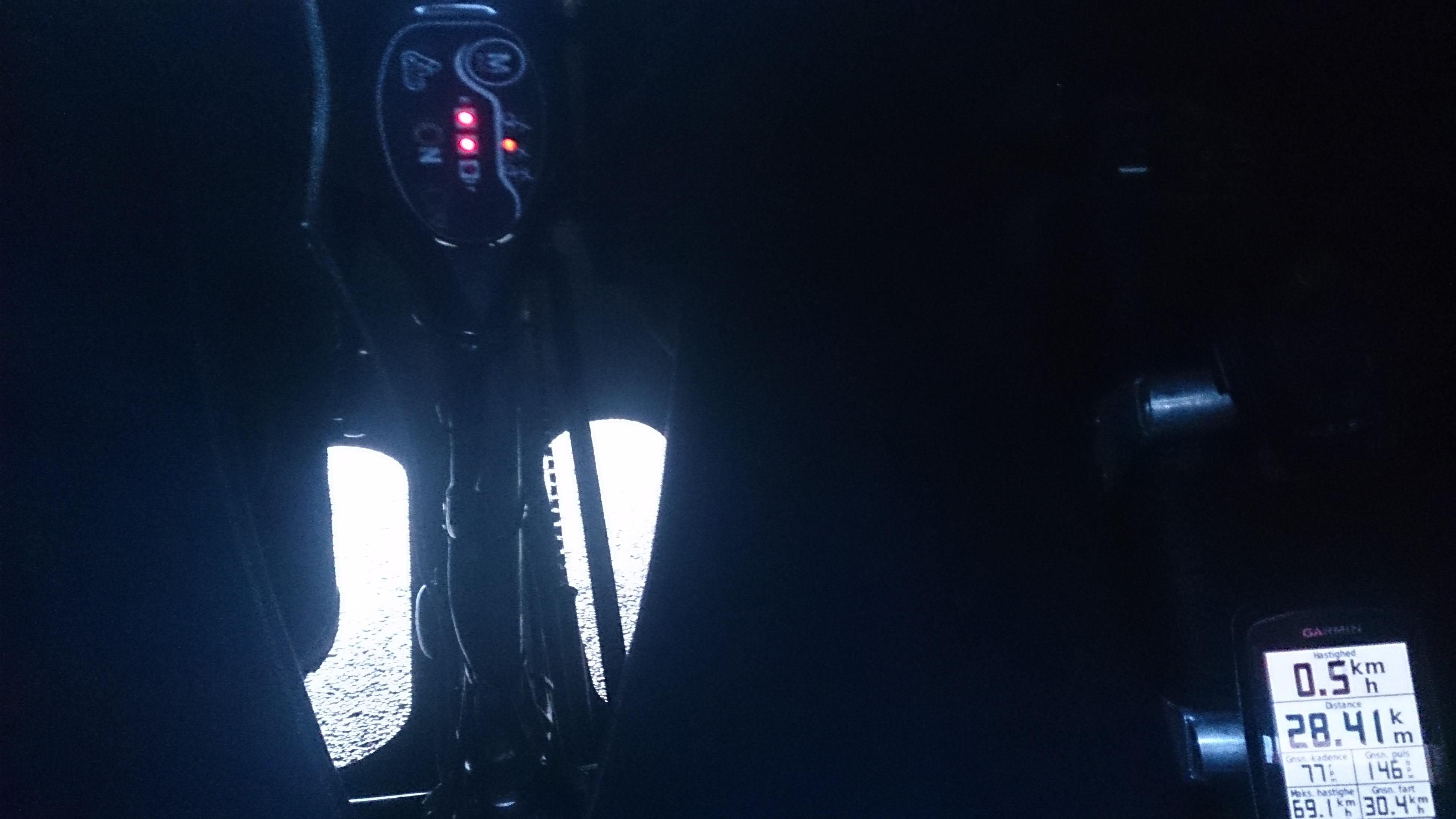 Første diode slukker efter 28 km