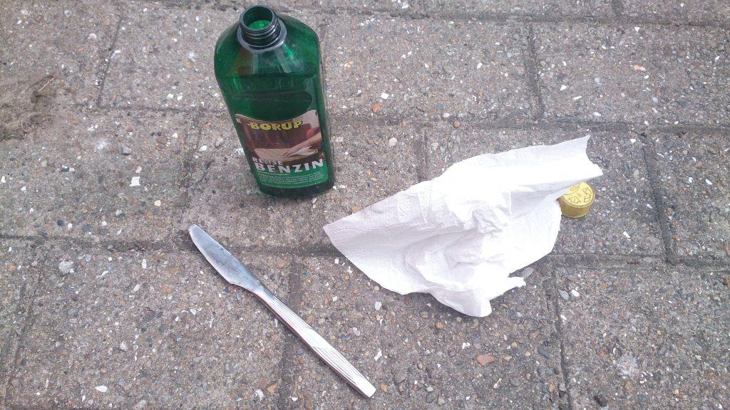 Kniv Rense benzin Køkkenrulle