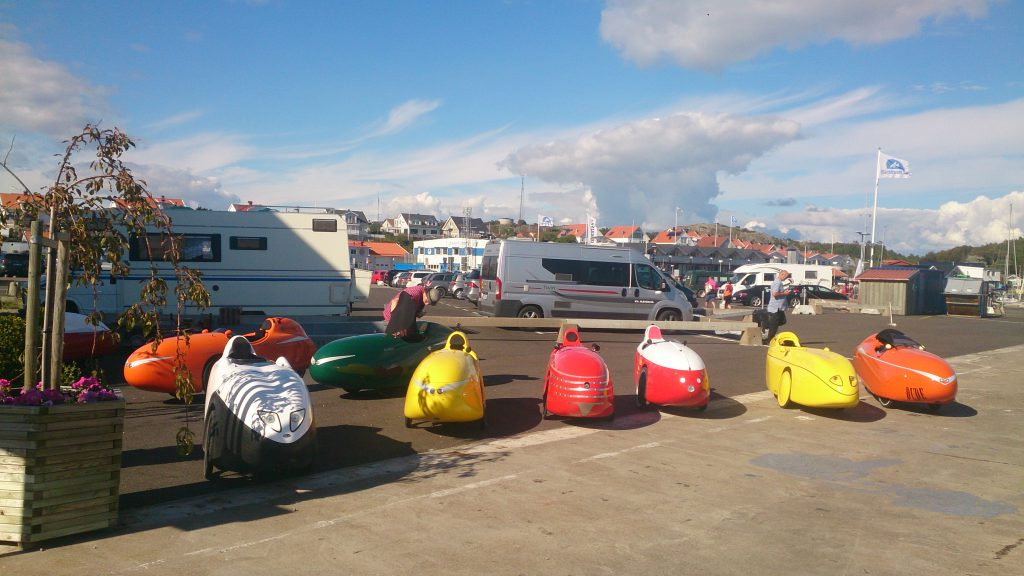 Velomobiler Mad pause i Marstrand