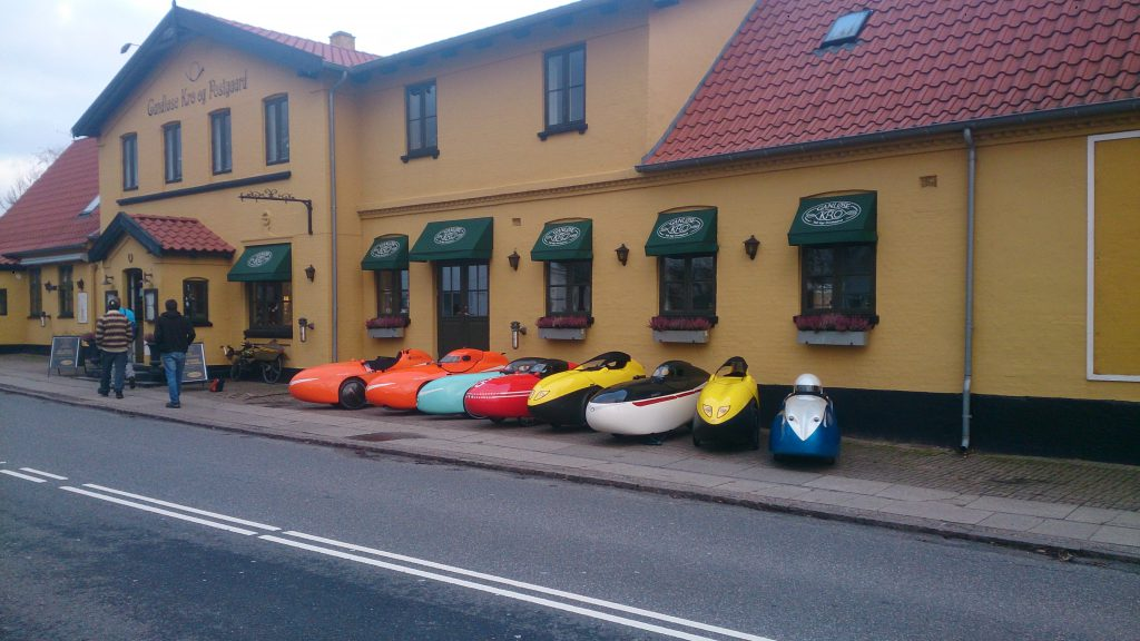 Velomobiler ved Ganløse Kro 2016