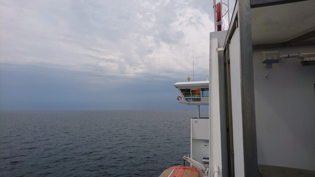 Sorte skyer mod Frederikshavn